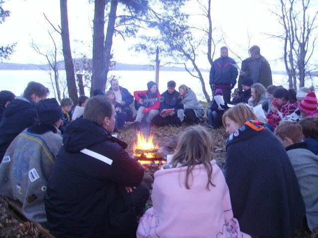Scoutläger på Sjöhagen